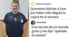 Enlace a Walmart da la enhorabuena a su cajera de la semana y la gente empieza a compartir divertidas historias sobre ella