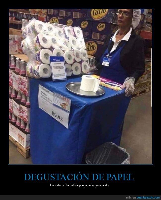 degustación,papel higiénico,supermercado,wtf