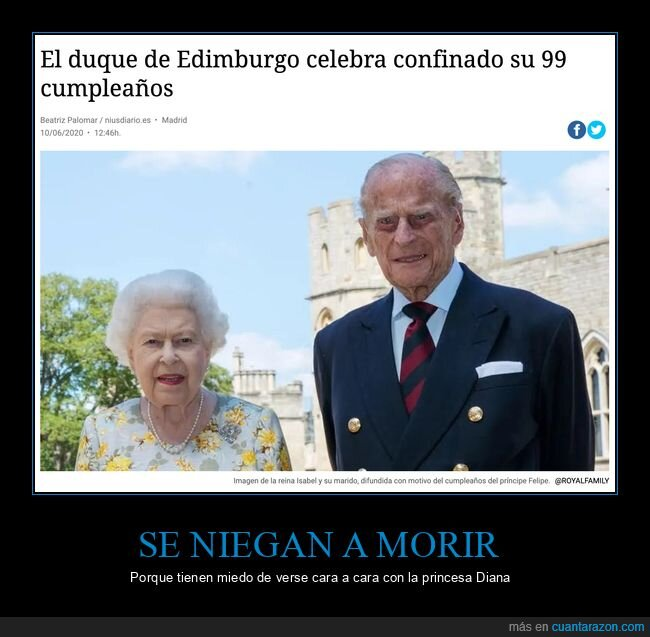99 años,isael ii,lady di,morir,príncipe philip