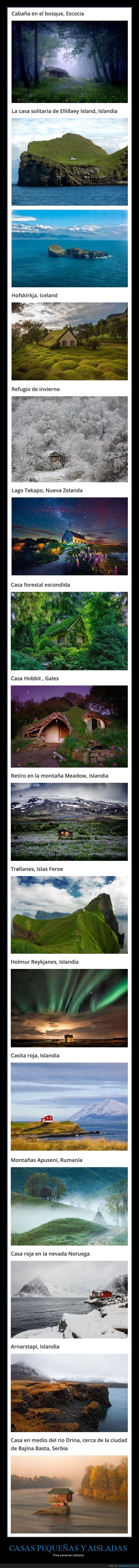 aisladas,casas,pequeñas