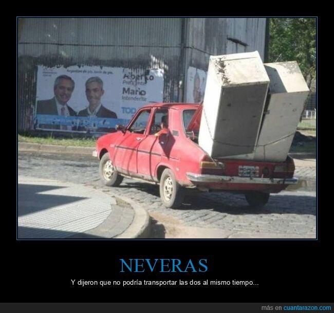 coche,neveras,transportando,wtf