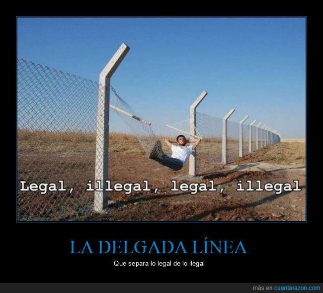 frontera,hamaca,ilegal,legal,valla