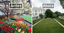 Enlace a La gente ridiculiza con brutales tuits la renovación del jardín de rosas de la Casa Blanca que ha hecho Melania Trump