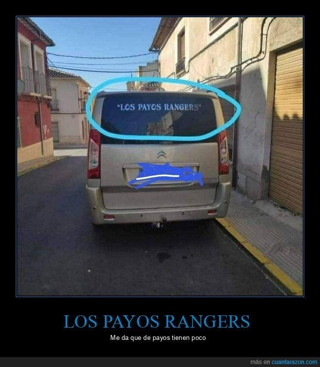 furgoneta,payos rangers,power rangers,wtf