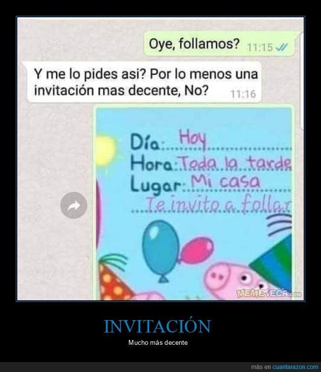 decente,invitación,whatsapp