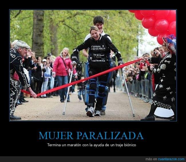 maratón,paralizada,traje biónico