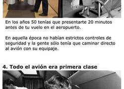 Enlace a Cosas que explican lo que se sentía viajar en avión en los años 50