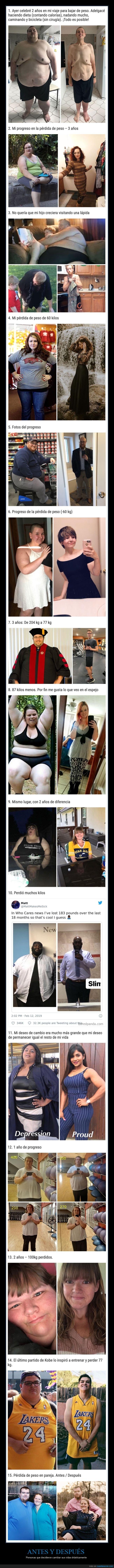 adelgazar,antes,cambios,después,peso