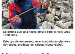 Enlace a Artefactos 'Vikingos' que fueron encontrados bajo el hielo de Noruega