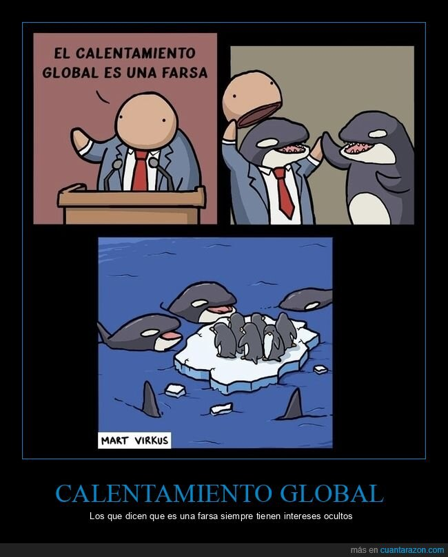 calentamiento global,orcas,pingüinos