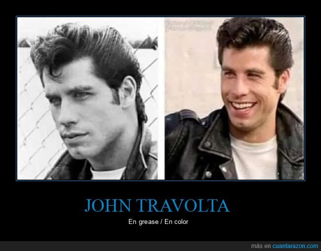 color,grease,john travolta