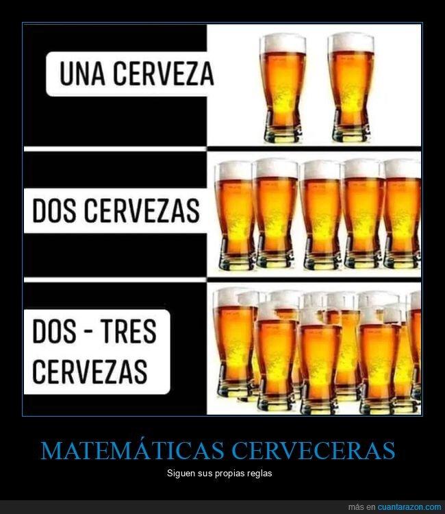 cerveza,matemáticas