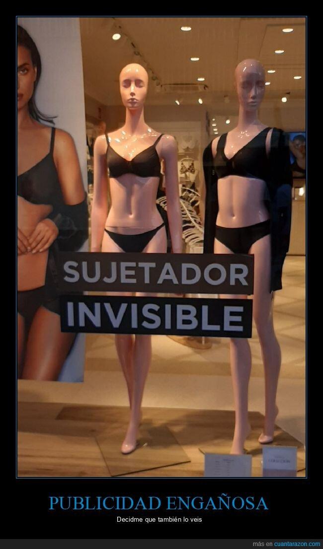 invisible,publicidad engañosa,sujetador