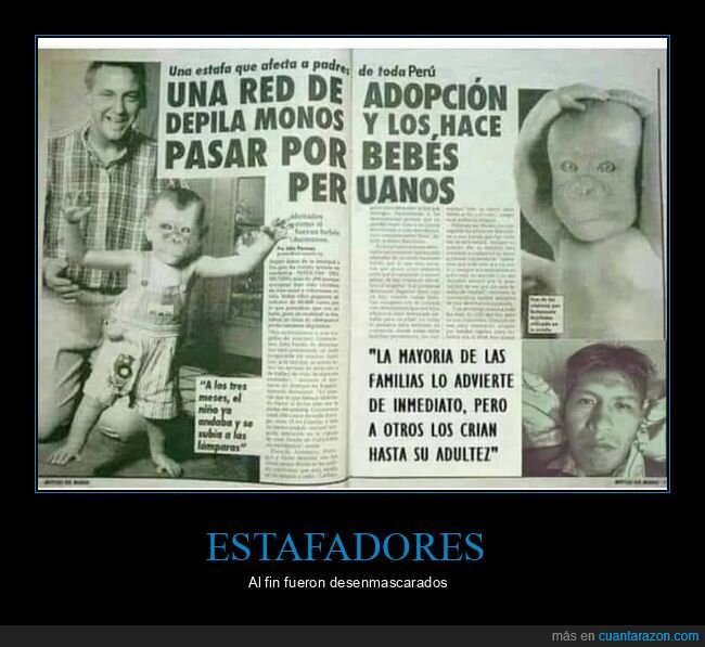 adopción,depilados,monos,niños,peruanos