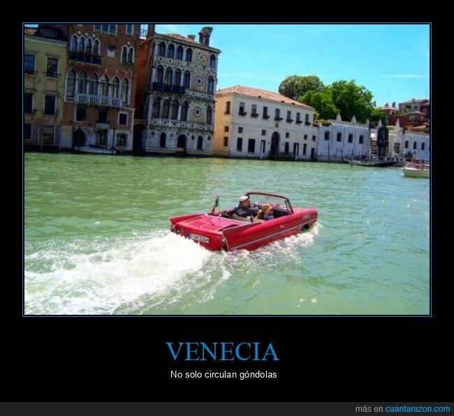 agua,coche,venecia