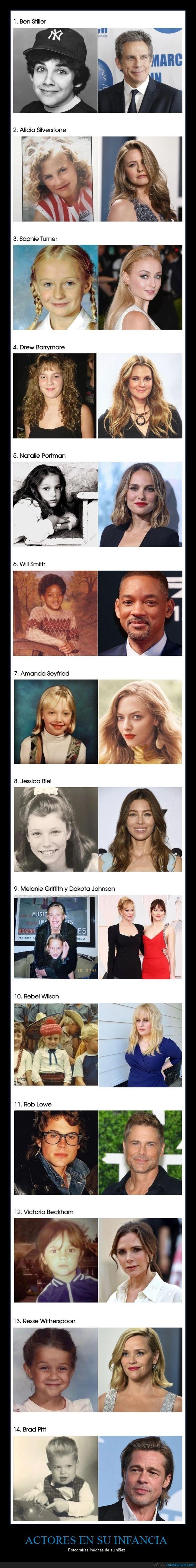actores,ahora,antes,niños