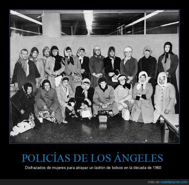 disfrazados,mujeres,policías