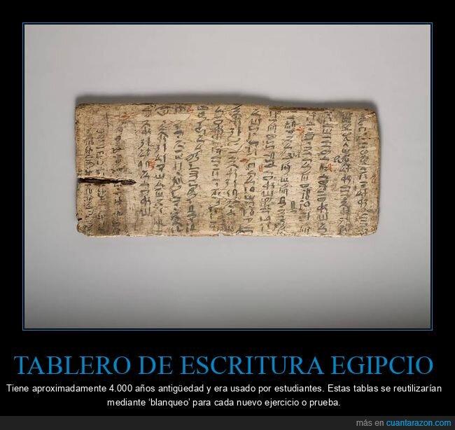 curiosidades,egipcio,tablero de escritura