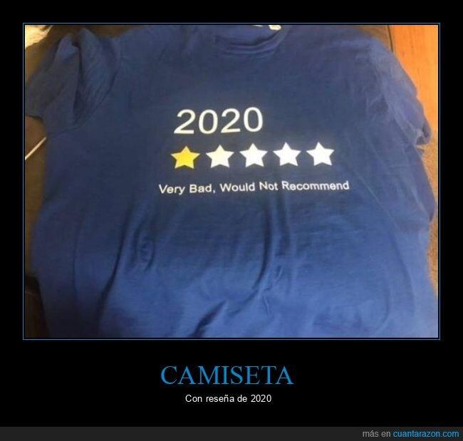 2020,camiseta,reseña