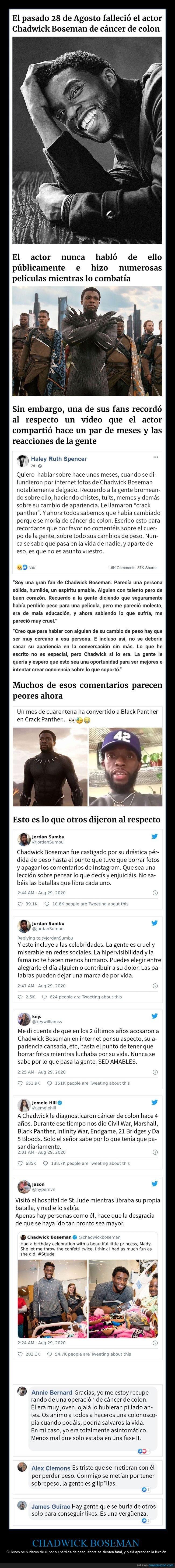 black panther,chadwick boseman,pérdida de peso