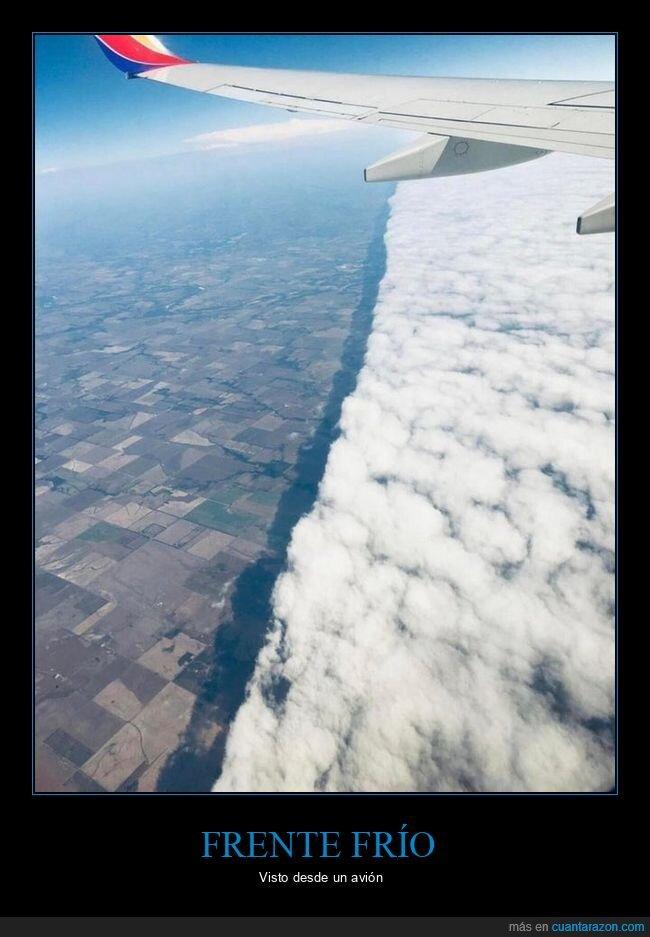 avión,frente frío,nubes