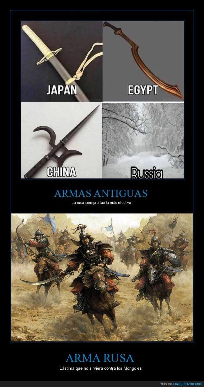 armas,invierno,mongoles,rusos