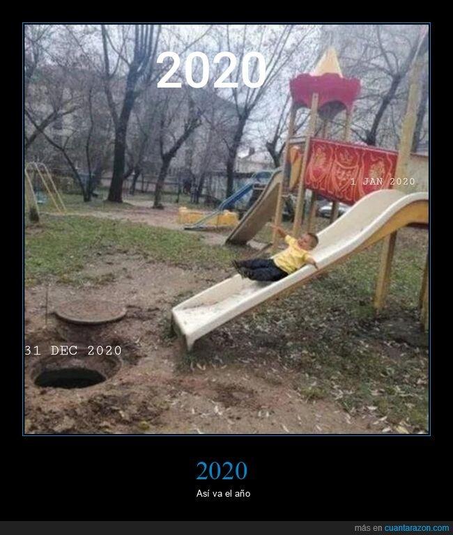 2020,alcantarilla,niño,tobogán