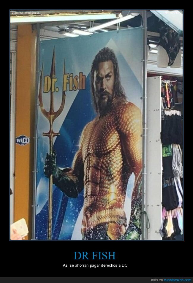 aquaman,dr fish,nombre