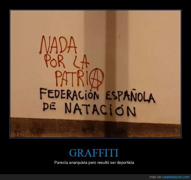 graffitis,nada,natación,patria