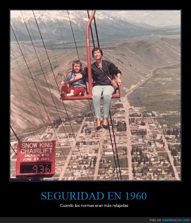 1960,seguridad,telesilla