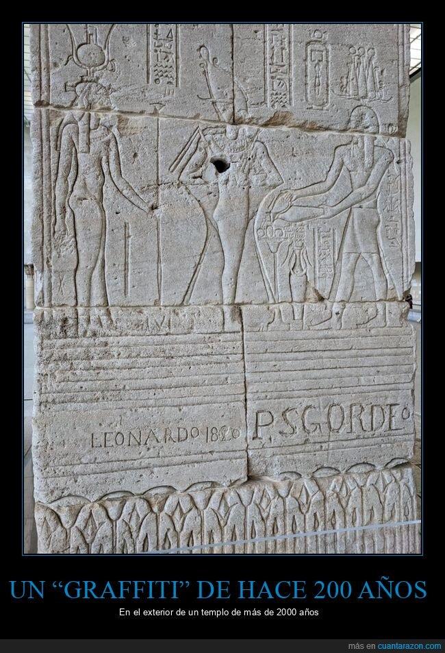 200 años,2000 años,graffiti,templo
