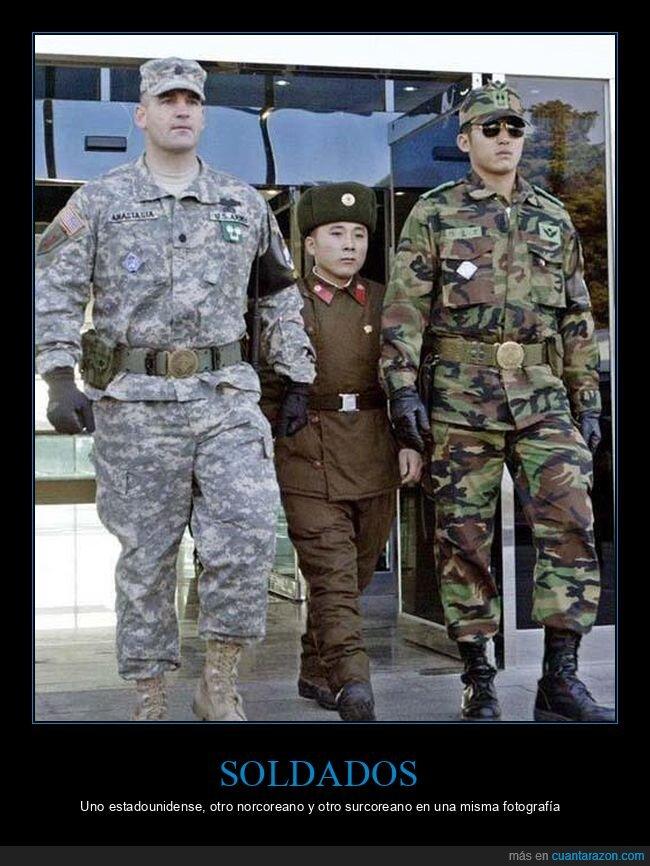 corea del norte,corea del sur,eeuu,soldados