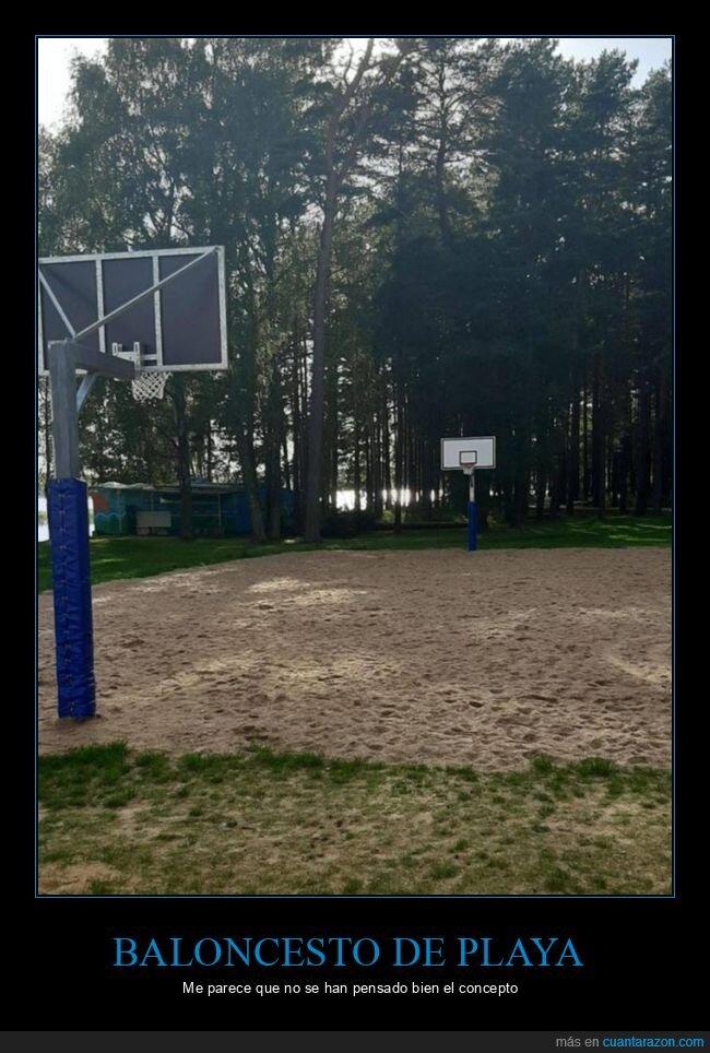 arena,baloncesto,cancha,fails,playa