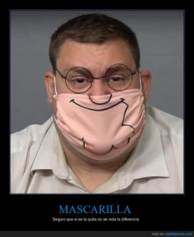 mascarilla,padre de familia,peter griffin