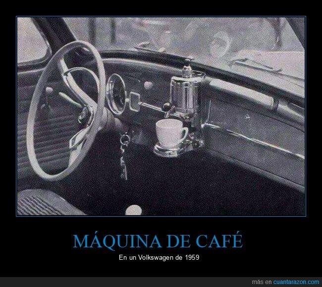 coche,máquina de café,volkswagen
