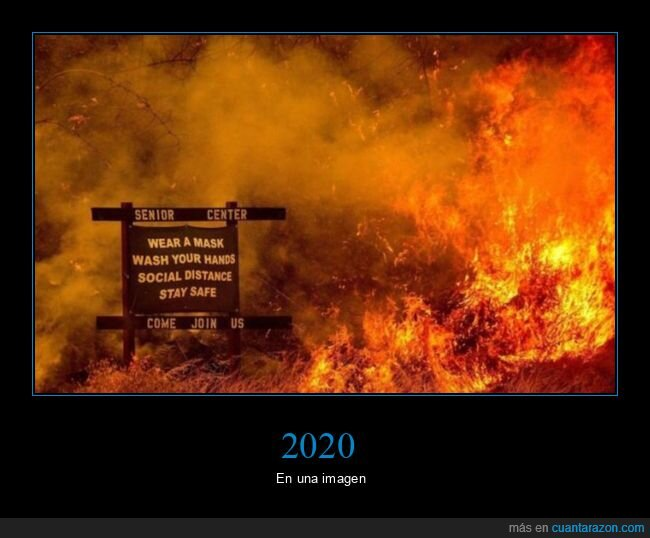 2020,cartel,incendio,mascarillas