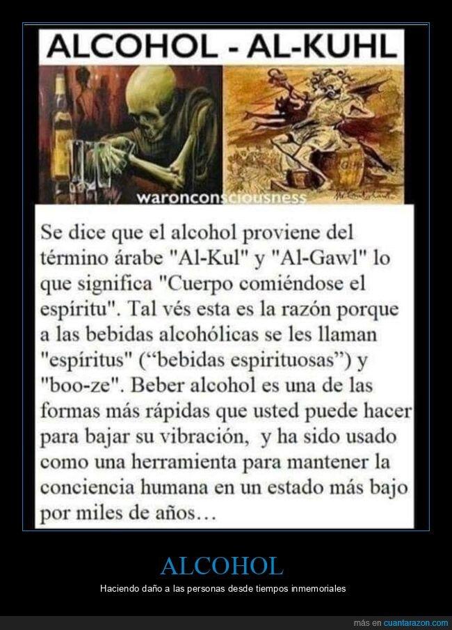 alcohol,espíritu,etimología
