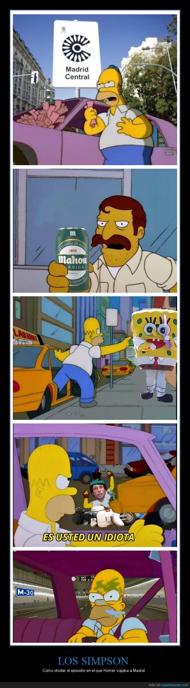 homer,madrid,simpsons