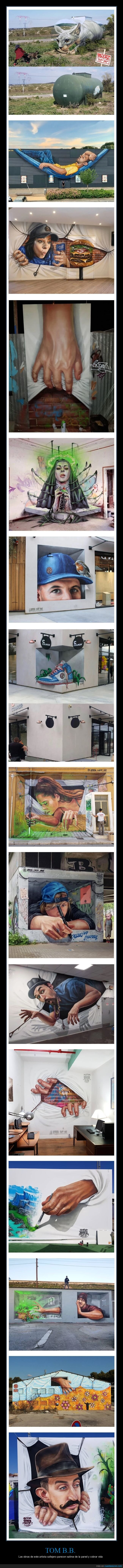 3d,arte,artista callejero,tom b.b.