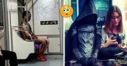 Enlace a Personas extrañas con las que te puedes topar en el transporte público