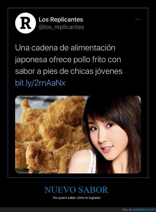 japoneses,pies,pollo,sabor,wtf