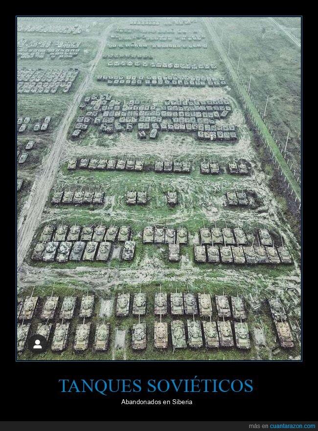 abandonados,soviéticos,tanques