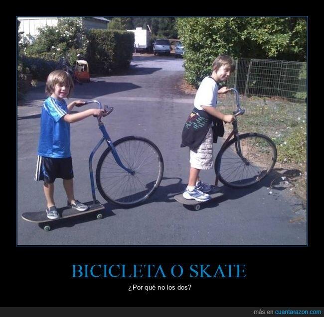 bicicleta,skate,wtf