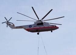 Enlace a Un helicóptero que transporta aviones