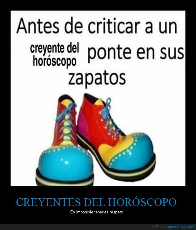 criticar,horóscopo,payaso,zapatos