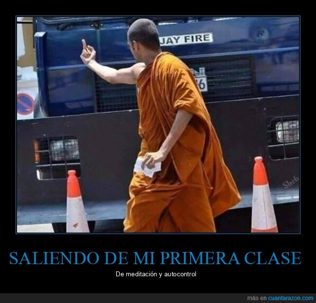 autocontrol,meditación,monje budista
