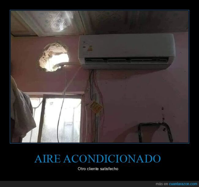 agujero,aire acondicionado,fails,pared