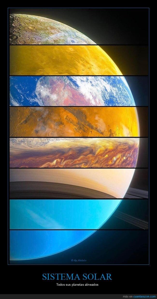 alineados,curiosidades,planetas,sistema solar