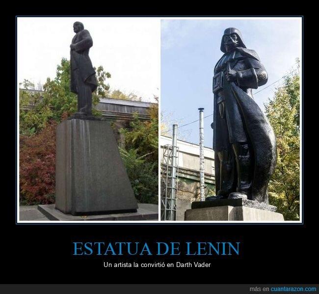darth vader,estatua,lenin,star wars