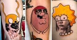 Enlace a Tatuajes surrealistas que mezclan la cultura pop de una manera alucinante